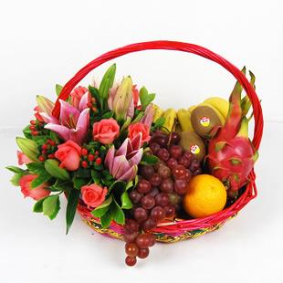 兰之馨网络订花:果篮・幸福的感觉
