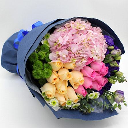 兰之馨鲜花购买-五彩心情