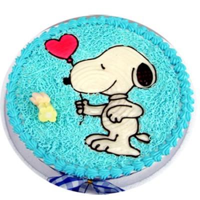 兰之馨生日蛋糕:快乐小狗